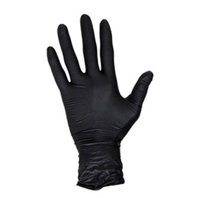 Nitril handschoenen maat L doos 100 stuks zwart poedervrij Masterglove